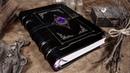 Binding a MYSTICAL Handmade GRIMOIRE / Book of Shadows!