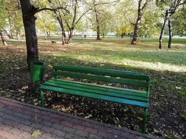 Скамейки отремонтировали в Народном парке