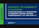 Профильный Комитет рекомендовал к принятию проект федбюджета на ближайшую трёхлетку