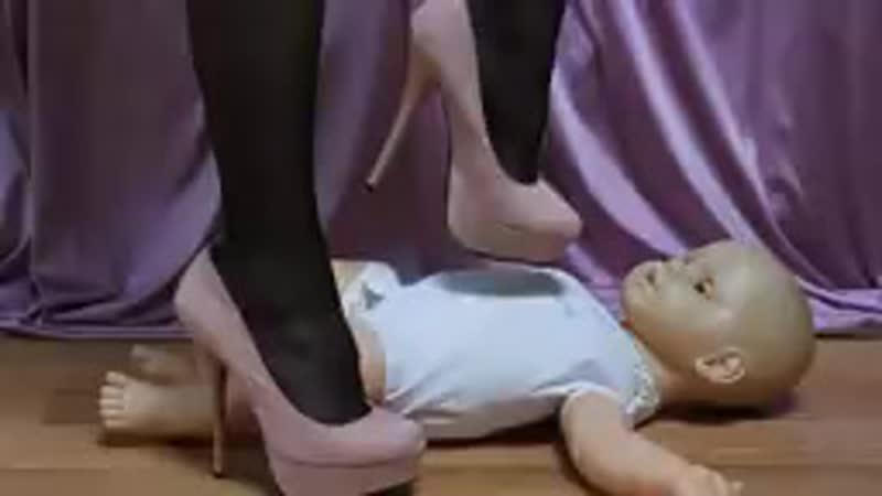 High Heel Baby Doll Trample - YouTube.mp4