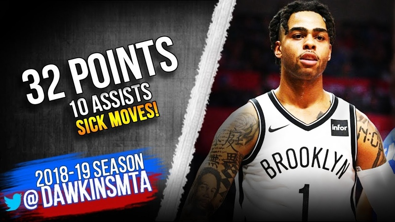D'Angelo Russell Full Highlights 2019.03.17 Nets vs Clippers - 32 Pts,10 Asts, SiCK Moves!