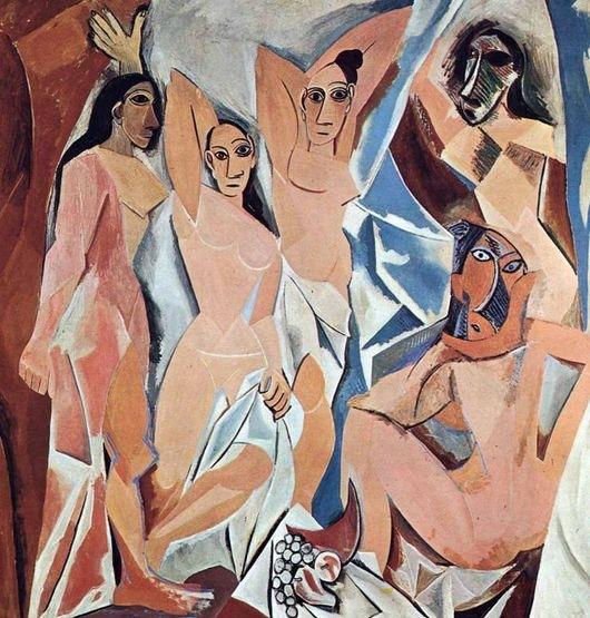 Пабло Пикассо Авиньонские девицы (1907) «Авиньонские де вицы - картина, целиком построенная на идеях Поля Сезанна и ознаменовавшая рождение нового направления в искусстве. В работах Пикассо
