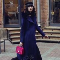 eb233bd07cb0b Пальто из драпа с ажурной юбкой плиссе синего цвета. 32 215 ₽. Пальто- двубортное с юбкой солнце цвета серый меланж