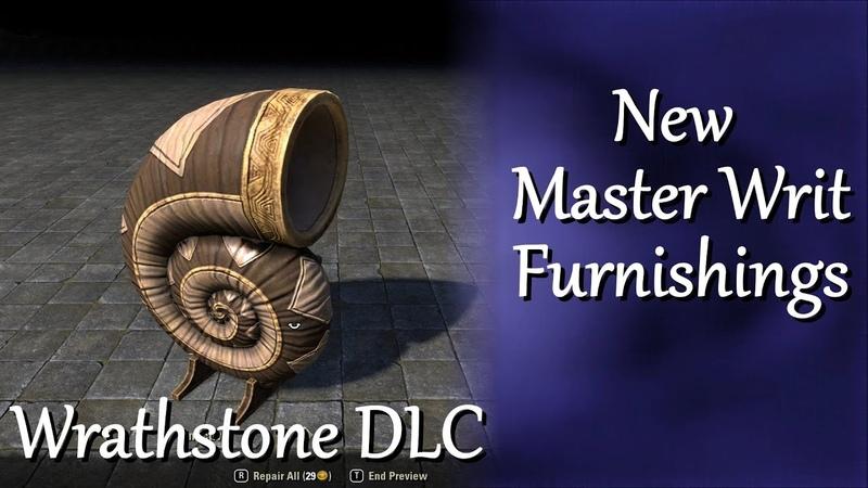 ESO New Achievement Master Writ Furnishings Wrathstone DLC