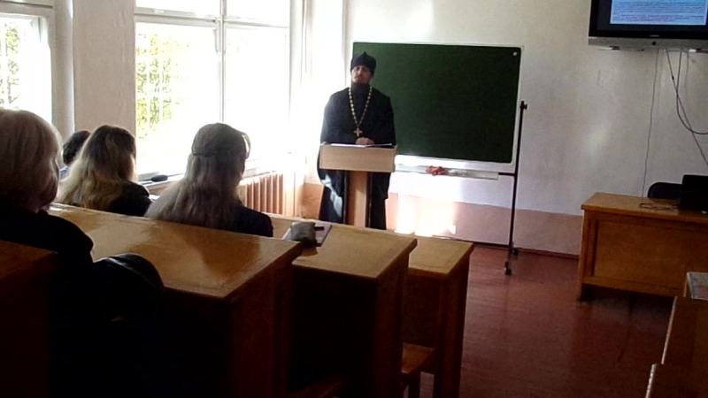 Выступление настоятеля Вознесенско-Иннокентьевского храма иерея Владимира Новикова