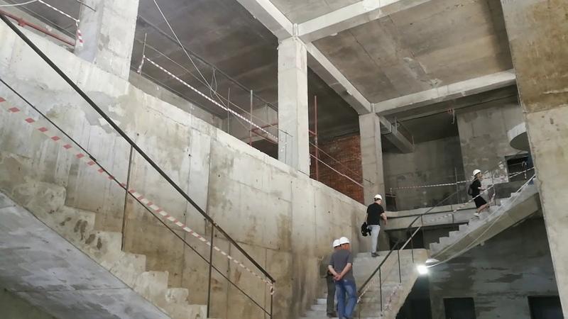 Строительство Крымского центра театрального искусства