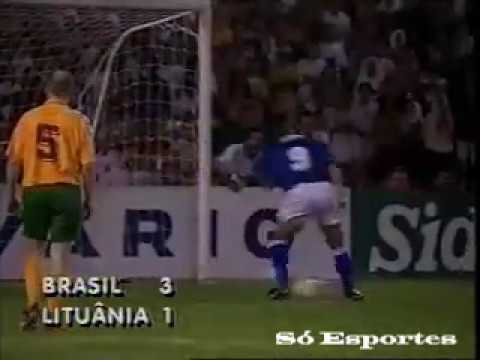 Brasil 3 x 1 Lituânia - Amistoso 1996