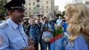 Митинг спящих и разговор с полицией в Новосибирске.