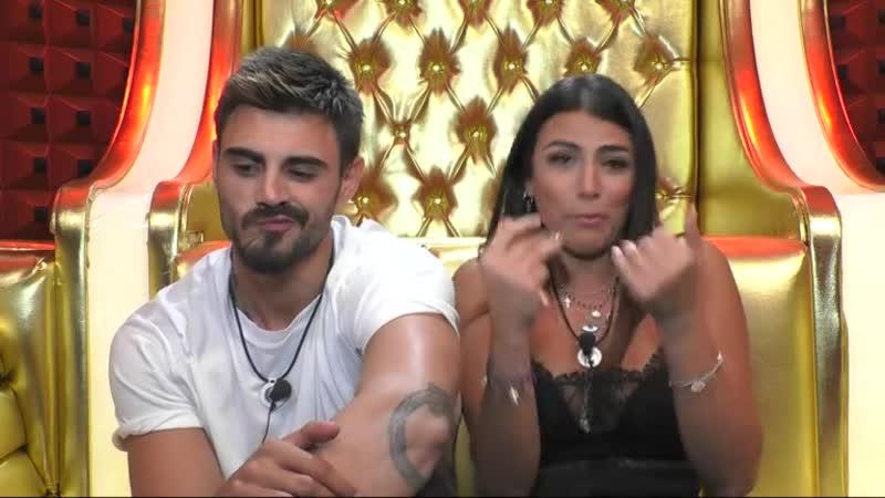 Francesco Monte e Giulia Salemi il confronto in studio