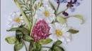 Вышивка лентами полевых трав и цветов МК