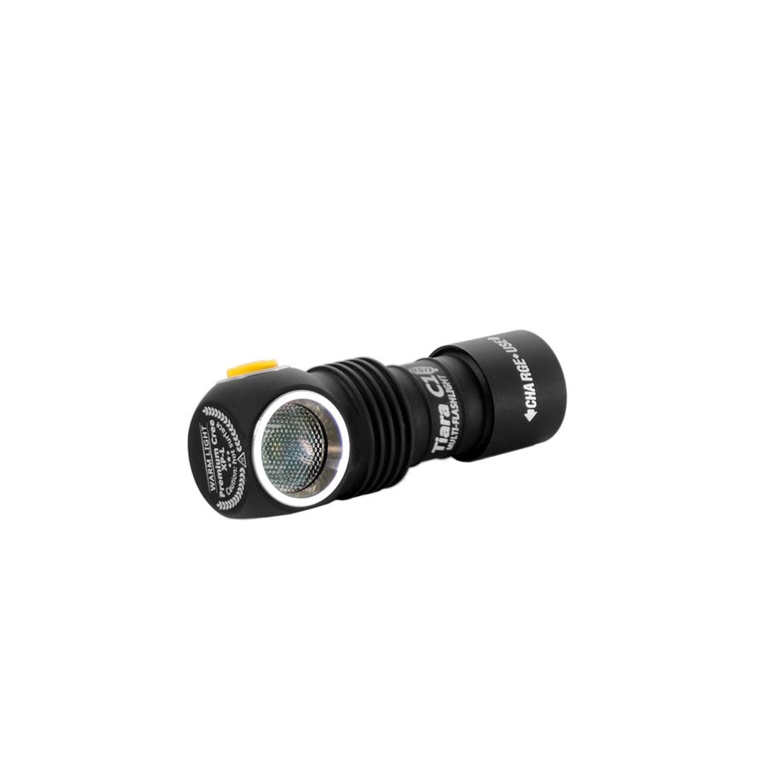 Tiara C1 Magnet USB XP-L (белый свет)+18350 Li-Ion