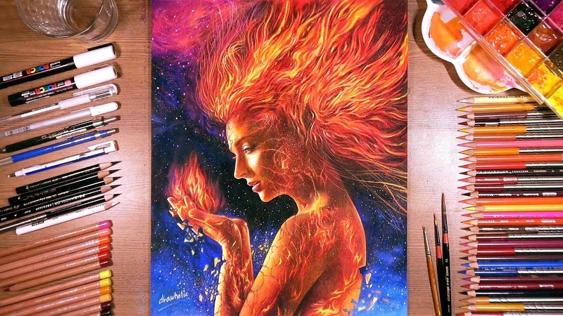 Drawing Jean Grey (X-Men: Dark Phoenix) | drawholic