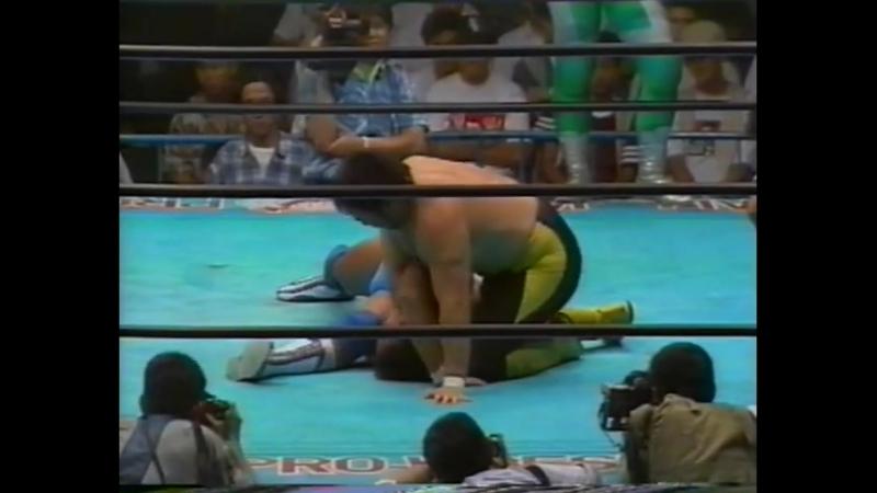1993.07.19 - Jun Akiyama/Mitsuharu Misawa vs. Masanobu Fuchi/Toshiaki Kawada