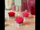 Beautiful rose petal candles by Diply​ Crafty​