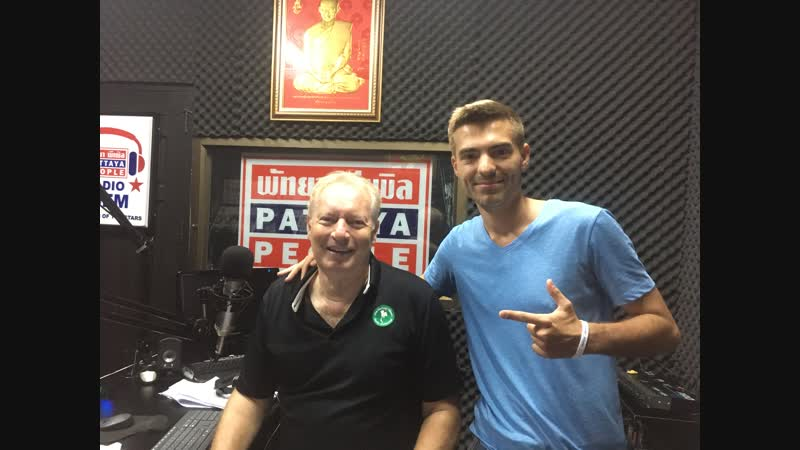 Vadiamo Barry Upton on Sunshine Hits Radio 96 FM in Pattaya, Thailand