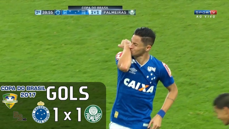 Gols - Cruzeiro 1 x 1 Palmeiras - Copa do Brasil 2017
