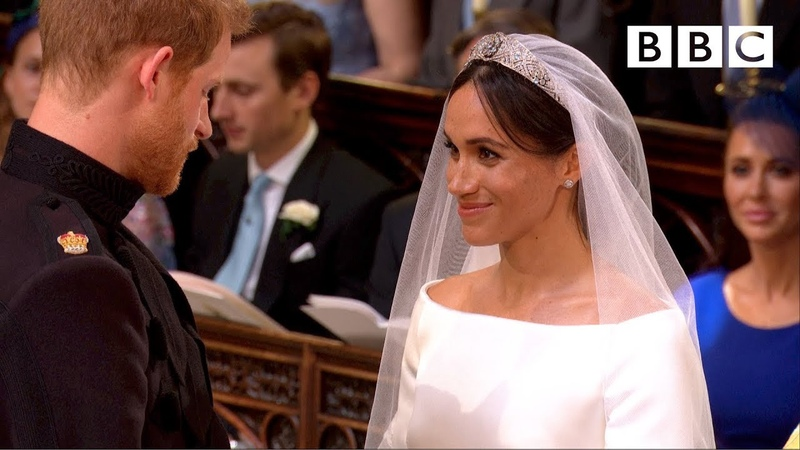 Stand by Me Prince Harry and Meghan Markle exchange vows The Royal Wedding BBC