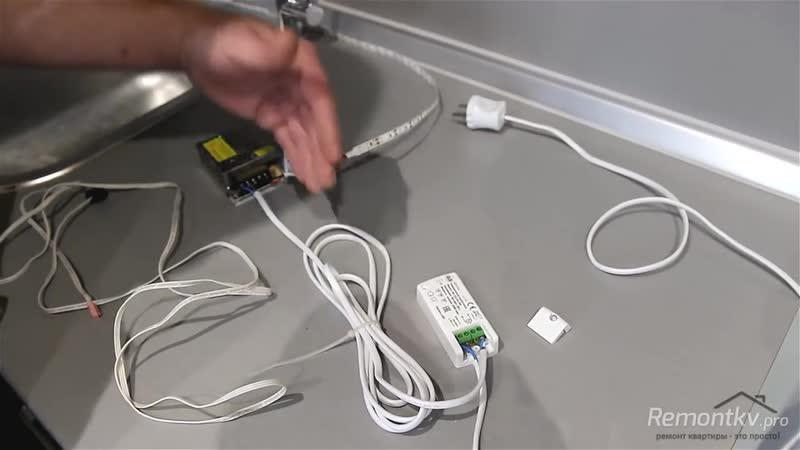 Светодиодная подсветка рабочей зоны кухни своими руками Быстро просто дешево