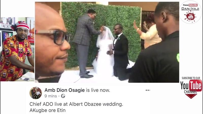 Dion Osagie Albert Obazee wedding. AKugbe ore Etin
