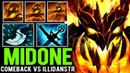 MIDONE Shadow Fiend Comeback against IllidanSTR Mid Bounty Hunter