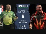 2018 European Darts Championship Round 1 Webster vs Bunting