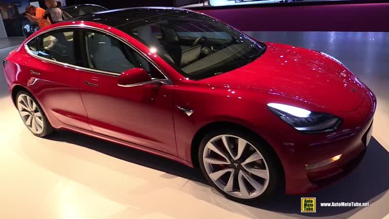 2019 Tesla Model 3 Dual Motor - Exterior, Interior Walkaround - 2018 Paris Motor Show