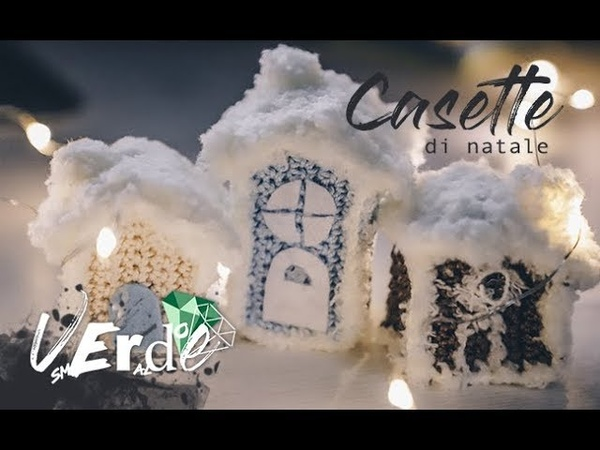 Uncinetto Natale: Casette con neve- How to do small houses with snow