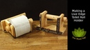 How to Make a Live Edge Toilet Roll Holder - Woodworking Woodturning Project