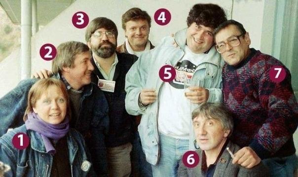 Коллектив программы «Марафон-15» . Помните, смотрели .Спасибо за и подписку«Марафон-15» в «Артеке» (1990): Светлана Прудовская (1), Лев Гущин (2) тогда первый зам. главного редактора журнала