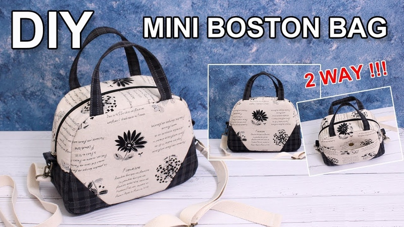 DIY 2way Boston Bag 투웨이 보스턴백 Free sewing pattern 가방만들기 Cómo hacer bolsa 手提包バッグ作り方 sewingtimes