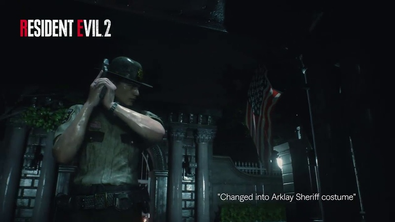 Resident Evil 2 Remake - Leon changed into Arklay Sheriff costume