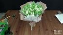 Собираем и упаковываем моно букет из тюльпанов