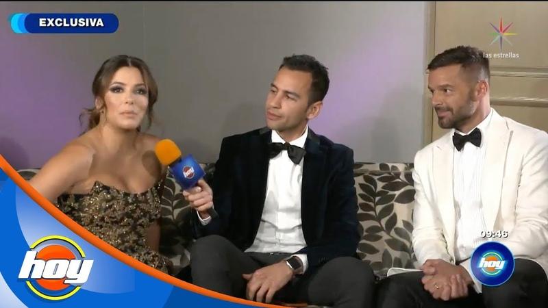 ¡Entrevista exclusiva con Ricky Martin y Eva Longoria en Hoy!