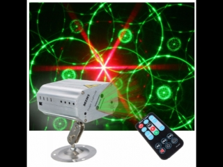 Mini R&G Auto/Sound LED Stage Light Laser Projector Xmas DJ Party Club Lamp + Remote
