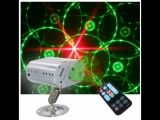 Mini R&ampG AutoSound LED Stage Light Laser Projector Xmas DJ Party Club Lamp + Remote
