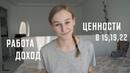 Работа, Доход и Ценности в 15 лет, 19 и 22 года | Karolina K