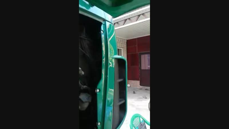 установка капота МАЗ простор с жабрами