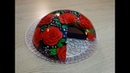 Strawberry Jelly and Chocolate Mousse Gelatin Art Cake