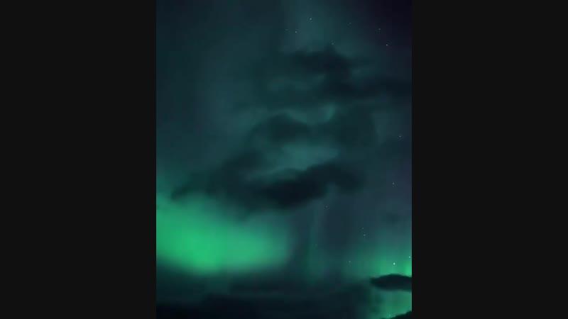 Северное сияние. Kuzey ışıkları.