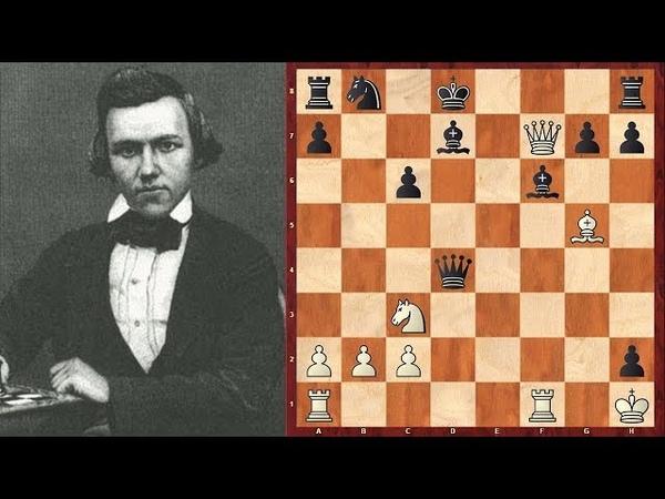 Шахматы. КОМБИНАЦИОННАЯ ФЕЕРИЯ гениального Пола Морфи!
