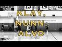 Views from practice: Klay Thompson, Kendrick Nunn and Alfonzo McKinnie splashing
