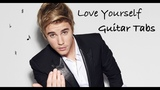 Justin Bieber - Love Yourself - Tutorial - Fingerstyle - Tabs - Accordi chitarra