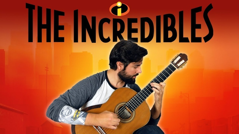 THE INCREDIBLES - Main Theme Classical Guitar Cover (BeyondTheGuitar)