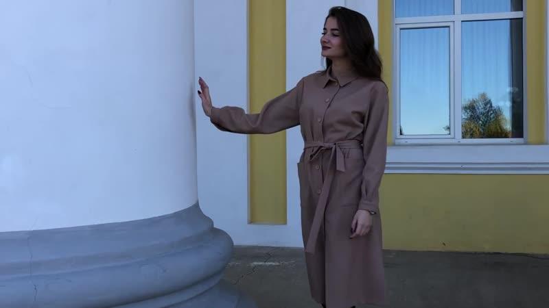Платье-халат из коллекции JEFFA Осень-Зима 18/19