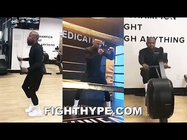 MAYWEATHER BACK IN NEW GYM FOR SOME LIGHT WORK; STILL GOT THE SKILLS TO PAY THE BILLS