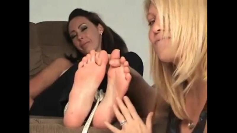 Mia has very ticklish feet