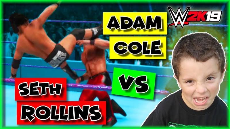 WWE 2K19 Adam Cole vs Seth Rollins