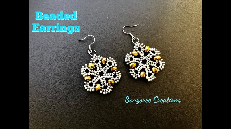 Beaded Earrings.How to make beaded Earrings 💞 Such an Awesome Tutorial 😘