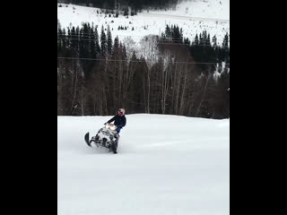 How to properly use a snowmobile.