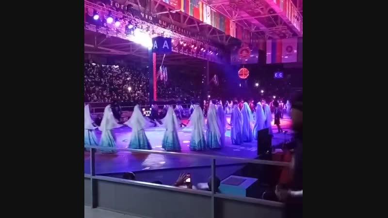 Открытие юбилейного турнира Межконтинентального кубка по вольной борьбе памяти прославленных борцов ХIХ-ХХ столетий.